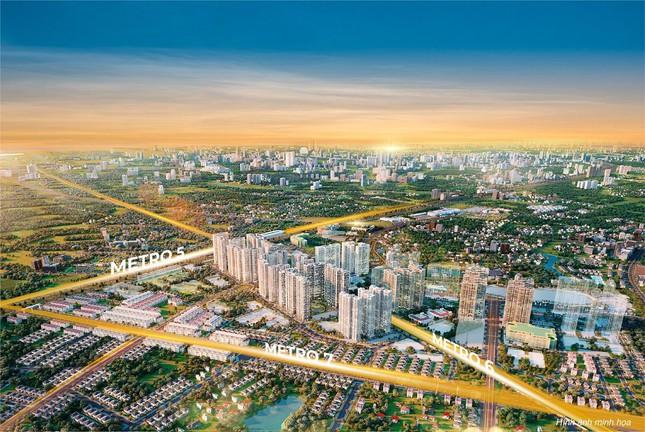 The Metrolines - Vinhomes Smart City nằm trọn giữa lòng 3 tuyến đường sắt huyết mạch của Thủ đô tuyến số 5-6-7